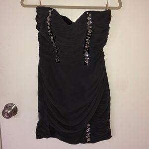 Lipsy grey mini dress with rhinestones size 6